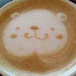 アナログ渋谷 - 打ち合わせだったんだけど、カフェラテ頼んだらこれ出てきて恥ずかしかった。。
