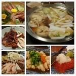 たぬきばやし - 職場の第6回京阪会。今回はマイナーな光善寺駅前の居酒屋で鍋と塩寿司。満足(´ー`)