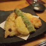日出鮨 - 揚げ物 野菜の天ぷら