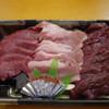 山城屋肉店 - 料理写真:馬刺し3種~☆