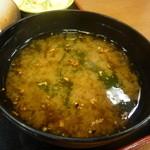 チキン亭 - 味噌汁