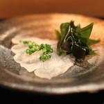 鮨 波やし - 料理写真:カワハギ 肝醤油で (2013/11)