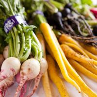 体に優しい産直無農薬野菜を使用しています♪