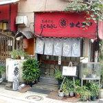 まぐろや - お店の外観も何だか昭和にタイムスリップしたみたいですよ