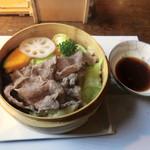 中吉 - Cランチ(2100円)_信州蓼科牛セイロ_2013-11-03
