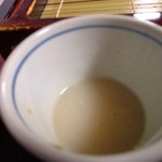 真そばや 會 - 濃厚な蕎麦湯