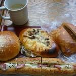 ゲベッケン - ホット珈琲と温めたパン