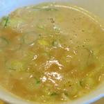 鶏白湯らーめん おび屋 - つけ麺タレ、濃厚とろとろトリの味・香り