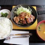 しゃぶしゃぶ剛 - トンテキ定食 (490円)