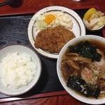 きよしや食堂 - ラーメン定食 カツ丼 2013年11月