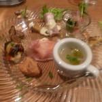 イルポッジョ - コースA(2500円)の前菜の盛り合わせ(11月)