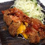 癒酒屋 富 - チーズインメンチカツ チリソース(ランチ)550円