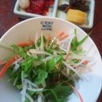 れすとらん 力亭 - サラダと漬物