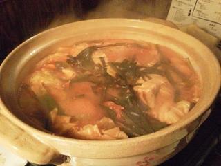 カーヴ隠れや - 日向産赤鶏とそぼろのトマト&味噌 コラーゲン鍋(コース4)