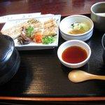 うなぎ割烹 康川 - 白焼きの定食