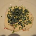 ブラッスリー・パラディ - 前菜:白身魚の洋風刺身