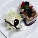いわい洋菓子店 - 和栗のモンブラン&リッチチョコショート