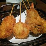 串かつ専門店 串+串 - Aコース(豚肉,玉葱,蛸,海老)
