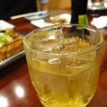 さのや - 梅酒ロック420円