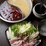 ZUNDA - 料理写真:時間限定! スープに秘めた願い『白金豚のマーラー火鍋』一人前