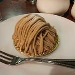 自家焙煎珈琲工房 カフェ バーンホーフ - モンブラン 650円