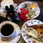 珈琲 蔦家 - カプチーノ、蔦屋ブレンド、洋梨のタルト、オレンジケーキ