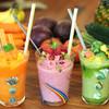 ビタ スムージーズ - 料理写真:左から、美らキャロット/ピュアボディ/ゴーヤーラッシュ・スムージー