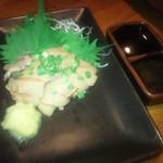 和食個室×しゃぶしゃぶ鍋 にっぽん市 - 天草大王地鶏 白レバー(湯引き) (800円)