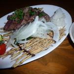 和食個室×しゃぶしゃぶ鍋 にっぽん市 - 和牛いちば ミニステーキ(780円)