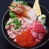 海鮮丼 大江戸 - 料理写真:大江戸4点丼(なかおち・イクラ・エビ・ネギトロ)