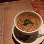 シノワ - アミューズメント 洋風茶わん蒸し、うずらの卵に鳥あんかけ