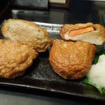 味の四季 - さつま揚げ(左が鯵・右が飛魚)