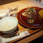 カフェアンドミール ムジ - デリ3品+セットスープ