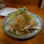 宵 - ピーラー野菜のパスタ風サラダ 600円