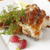 """串焼 ビストロ 和み鶏 - 料理写真:新鮮な朝びきの銘柄鶏の腕を丸ごと柚子こしょうに漬け込んでから、香ばしく焼き上げた『""""和み""""のグリル』"""