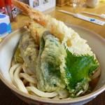 うどん 太三郎 - ぶっかけ えび野菜天  \700