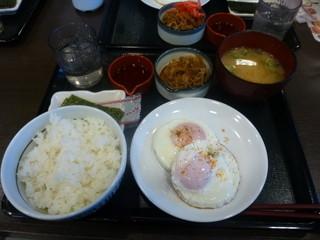 なか卯 - 目玉焼きダブル朝食