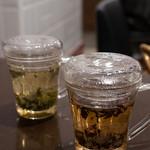美人粥 - なんとか美人茶(忘れた)、ジャスミン茶