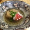 東 - 料理写真:口取りは海老芋と金目鯛の炊き合わせ