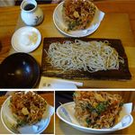 勝縁 - おろしかきあげざるそば                             。そば勝縁(長野県下伊那郡阿智村)食彩賓館撮影
