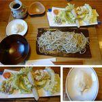 勝縁 - おろし天ざるそば。そば勝縁(長野県下伊那郡阿智村)食彩賓館撮影