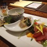 蔵元創作料理 天青 - 七五三お祝い膳 前菜。