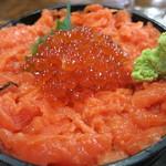 まるよ - トロサーモンとイクラ丼(鮭の親子丼)