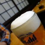 浜昇 - アサヒ生ビール中ジョッキ500円