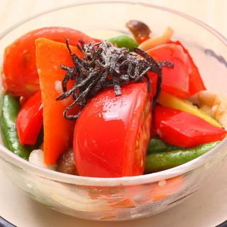 京野菜の深い味わいを堪能できる『炉暖ナムル』