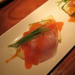 東京豚バザール - 生ハムとズッキーニのカルパッチョ