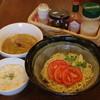 雷伝 - 料理写真:新トマトつけ麺です!〆は「チーズリゾット」で大満足間違いなし!