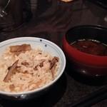 舞桜 - しめの松茸ご飯とお椀