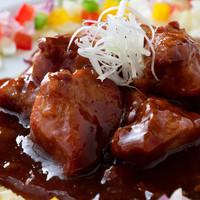 まんねん - バルサミコ酢を使った特製酢豚750円