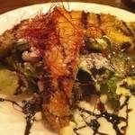 マックス - 釣り太刀魚のカツレツ サラダ仕立て。 美味いですね。